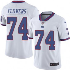 2016 Nike New York Giants 74 Ereck Flowers White Mens Stitched NFL Limited Rush Jersey