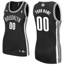 Adidas Brooklyn Nets Women Custom Replica Road Black NBA Jersey
