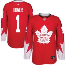 2017 NHL Toronto Maple Leafs Men 11 Johnny Bower red jersey