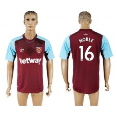 Men 2017-2018 club West ham at home 16 red aaa version soccer jersey