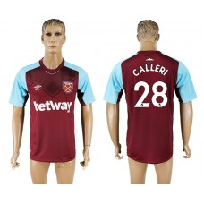 Men 2017-2018 club West ham at home 28 red aaa version soccer jersey