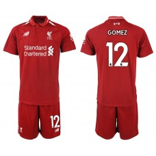 2018-2019 Men club Liverpool home 12 soccer jersey