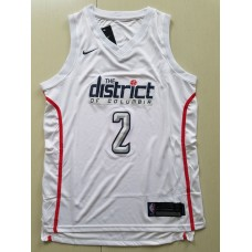 Men Washington Wizards 2 John Wall white game Nike NBA Jerseys