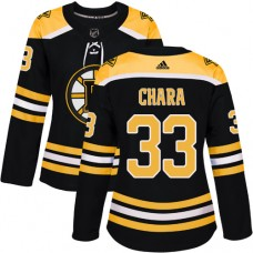 Adidas Boston Bruins 33 Zdeno Chara Black Home Authentic Women Stitched NHL Jersey