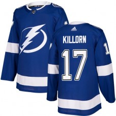 Adidas Tampa Bay Lightning 17 Alex Killorn Blue Home Authentic Stitched Youth NHL Jersey