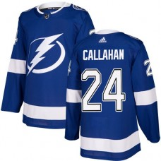 Adidas Tampa Bay Lightning 24 Ryan Callahan Blue Home Authentic Stitched Youth NHL Jersey