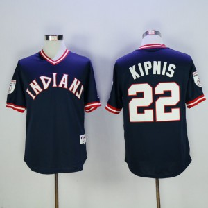 Men Cleveland Indians 22 Kipnis Blue Throwback 1976 MLB Jerseys