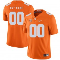 Men Tennessee Volunteers 00 Any name Orange Customized NCAA Jerseys