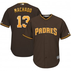 2019 MLB Men San Diego Padres 13 Machado brown game Jerseys