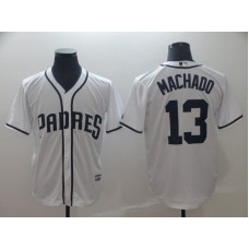 2019 MLB Men San Diego Padres 13 Machado white game Jerseys