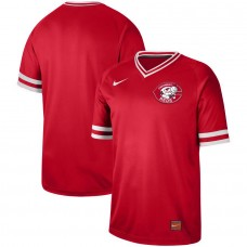 2019 Men MLB Cincinnati Reds blank red Nike Cooperstown Collection Jerseys