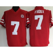 Men Nebraska Huskers 7 Scott Frost College Football Red NCAA Jerseys