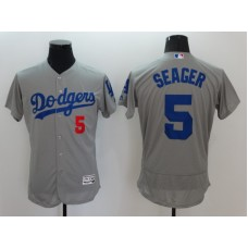 2016 MLB FLEXBASE Los Angeles Dodgers 5 Seager Grey Jerseys