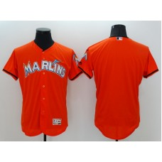 2016 MLB FLEXBASE Miami Marlins Blank Orange Jerseys