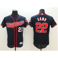 2016 MLB FLEXBASE Minnesota Twins 22 Sano Blue Jerseys