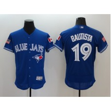 2016 MLB FLEXBASE Toronto Blue Jays 19 Bautista Blue Fashion Jerseys