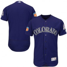 2017 MLB Colorado Rockies Blank Purple Jerseys