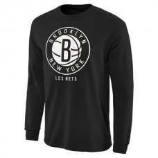 2016 NBA Brooklyn Nets Noches Enebea Long Sleeve T-Shirt - Black