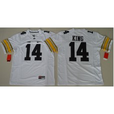 2016 NCAA Iowa Hawkeyes 14 Desmond King White College Football Jersey