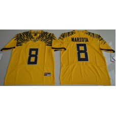 2016 NCAA Oregon Duck 8 Marcus Mariota Yellow College Football Electric Lightning Limited Jerseys