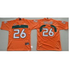 2016 Youth NCAA Miami Hurricanes 26 Sean Taylor Orange College Football Jersey