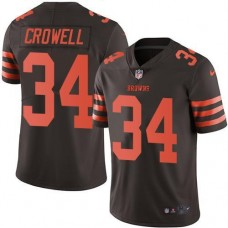 2016 Nike Cleveland Browns 34 Isaiah Crowell Brown Men Stitched NFL Limited Rush Jersey