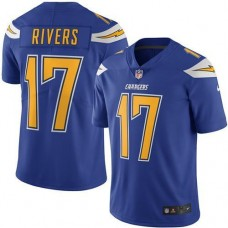 2016 Nike San Diego  Chargers 17 Philip Rivers Electric Blue Men Stitched NFL Limited Rush Jersey