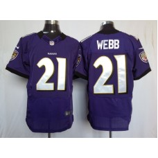 Baltimore Ravens 21 Webb Purple Nike Elite Jersey