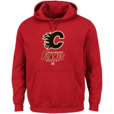2016 NHL Calgary Flames Majestic Critical Victory VIII Fleece Hoodie - Red