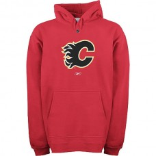 2016 NHL Reebok Calgary Flames Primary Logo Hooded Sweatshirt