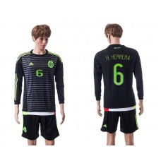 2015 Mexico Copa America 6 H.HERRERA Long Sleeve Home Jersey